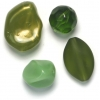 Lucite Assorted Large Beads Mix Jade - 72 Grams
